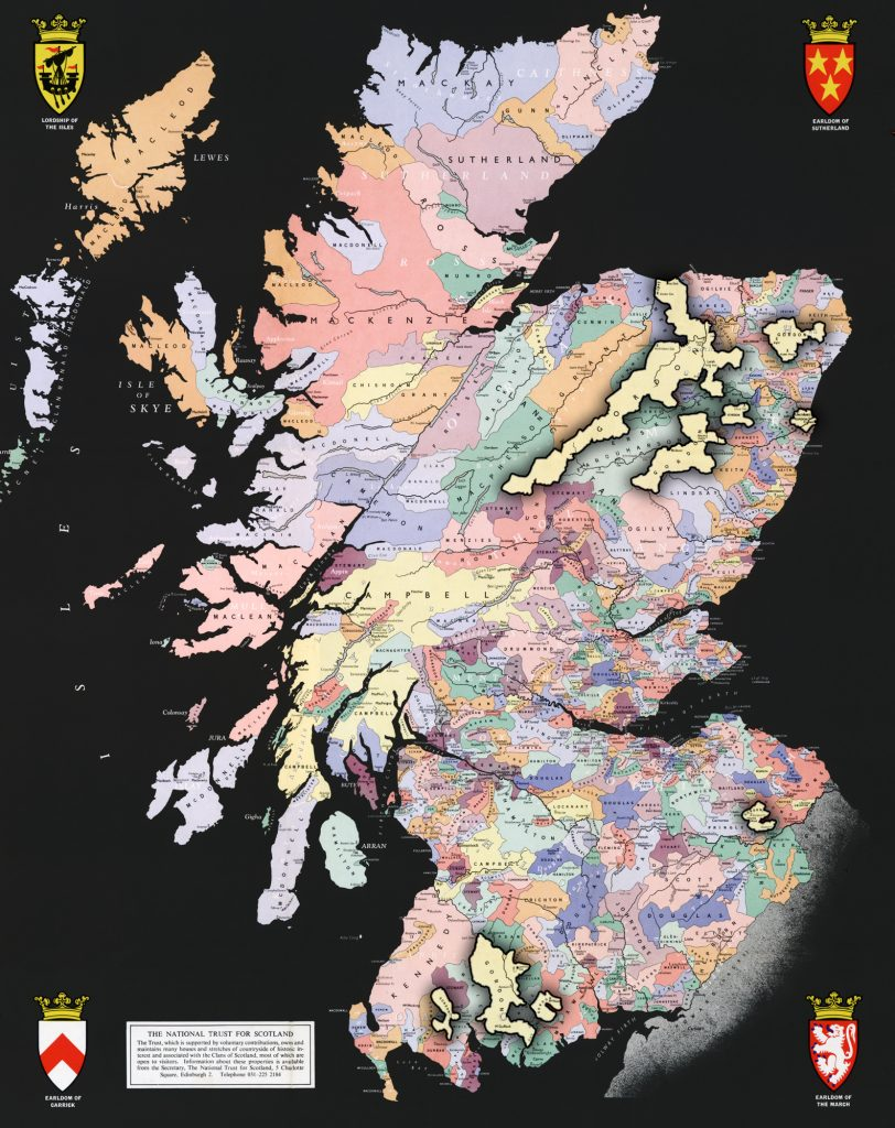 Scotland Map with Gordon lands